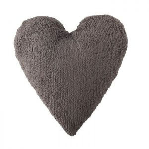Cojin Lavable Heart Dark Grey de Lorena Canals